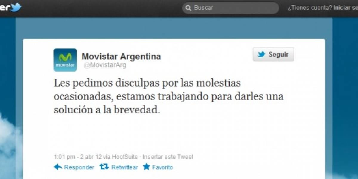 Argentina: Movistar se quedó sin servicio en todo el país y podría recibir sanciones del gobierno
