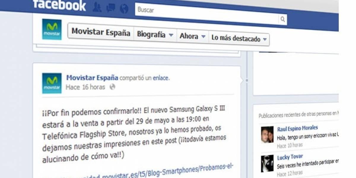 Movistar confirma que venderá el Galaxy S III en España