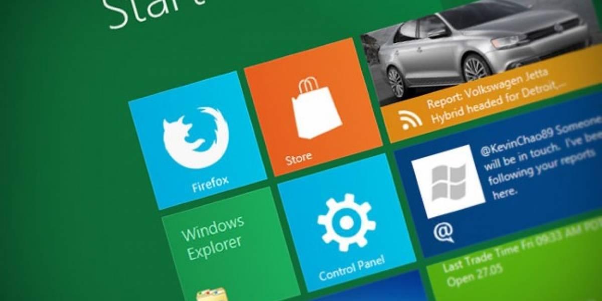 Primeros Screenshots de Firefox para Windows 8