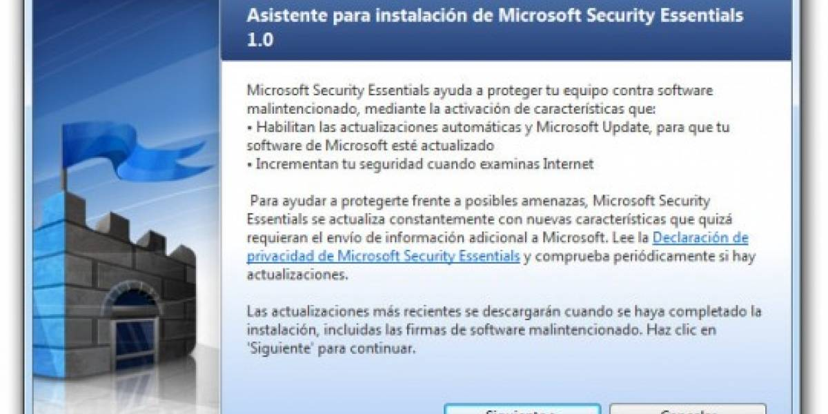 Microsoft lanza su antivirus gratuito Security Essential