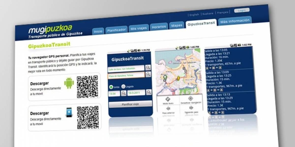 España: Tu móvil te avisa cuándo llega el bus en Gipuzkoa