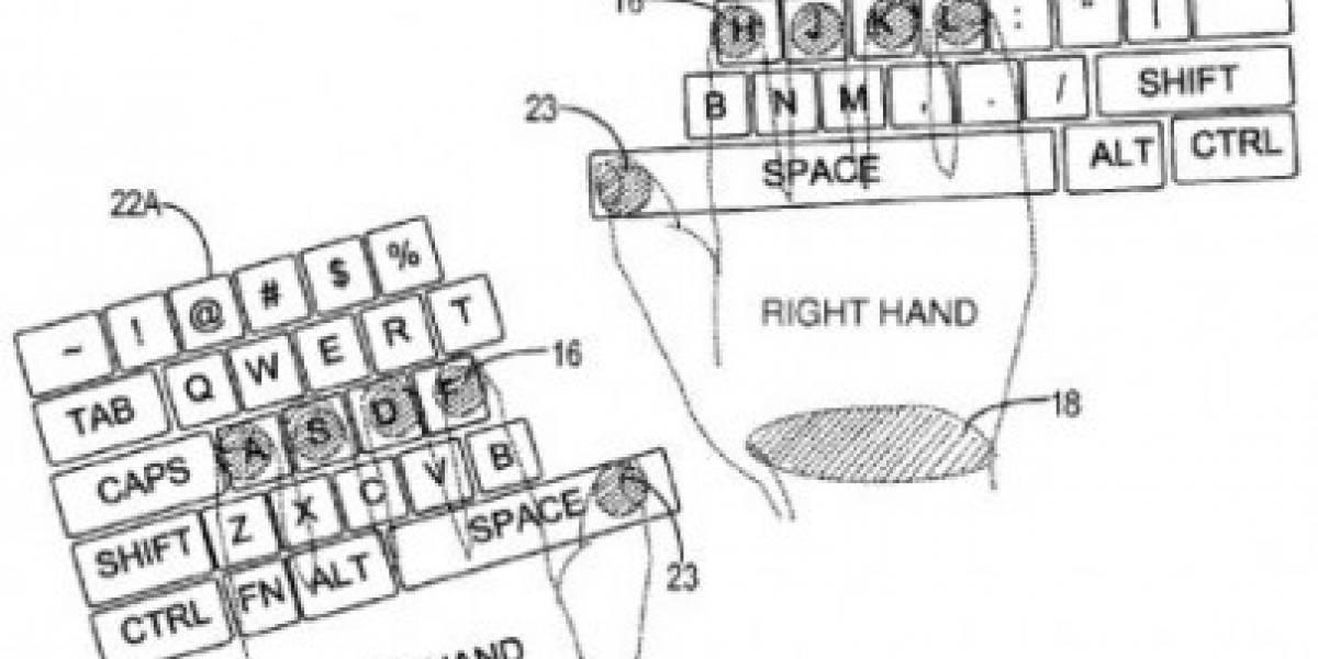 Microsoft patenta teclado multi-touch inteligente