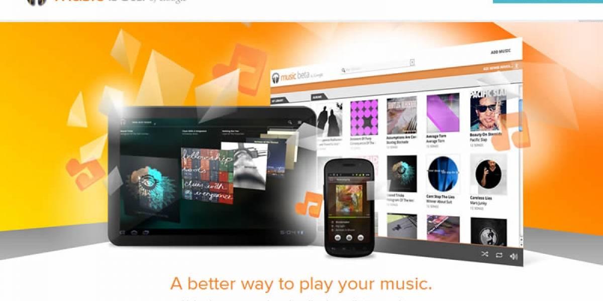 Oficial: Google lanza servicio de música llamado Music Beta