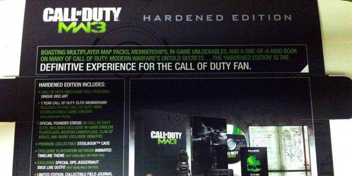 Con ustedes el detalle de la Hardened Edition de Modern Warfare 3