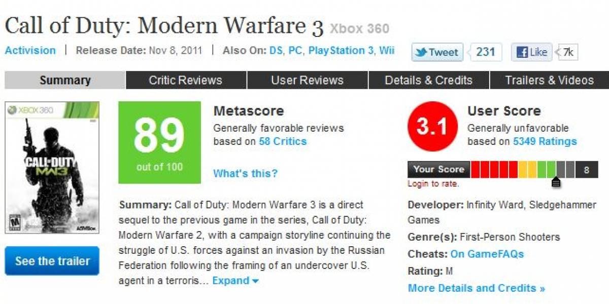 Sledgehammer Games pide ayuda para subir el promedio de Modern Warfare 3 en Metacritic
