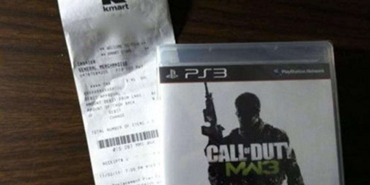 Tienda vende Modern Warfare 3 antes de su lanzamiento