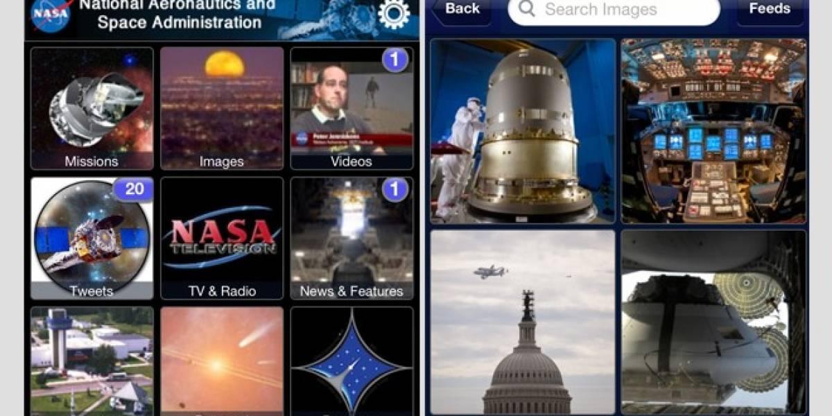 La NASA actualiza su aplicación para dispositivos iOS