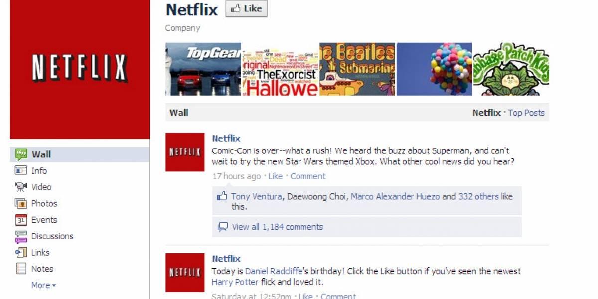 Netflix tendrá integración con Facebook en Latinoamérica