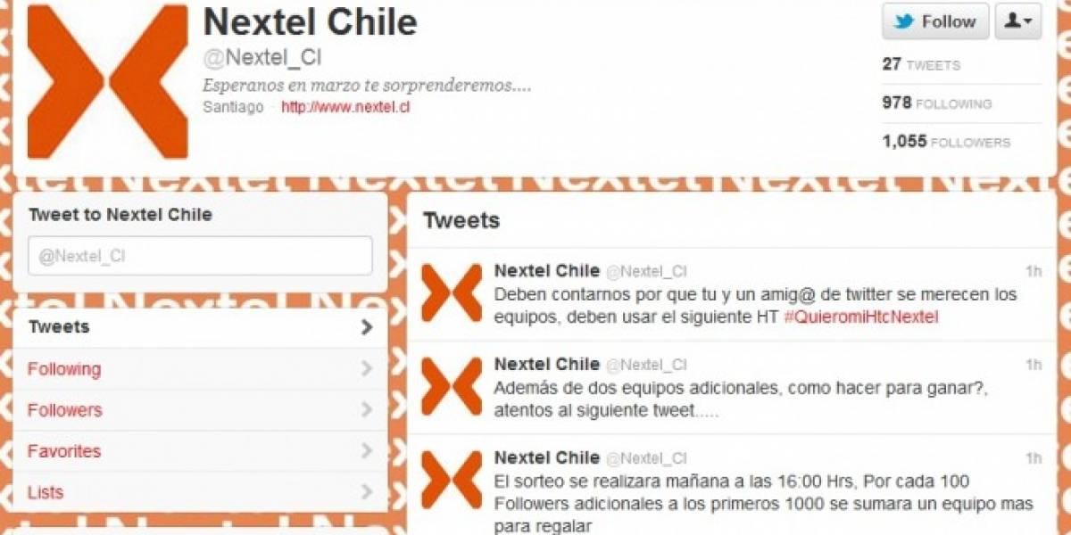 Chile: Falso concurso promete equipos de Nextel en Twitter