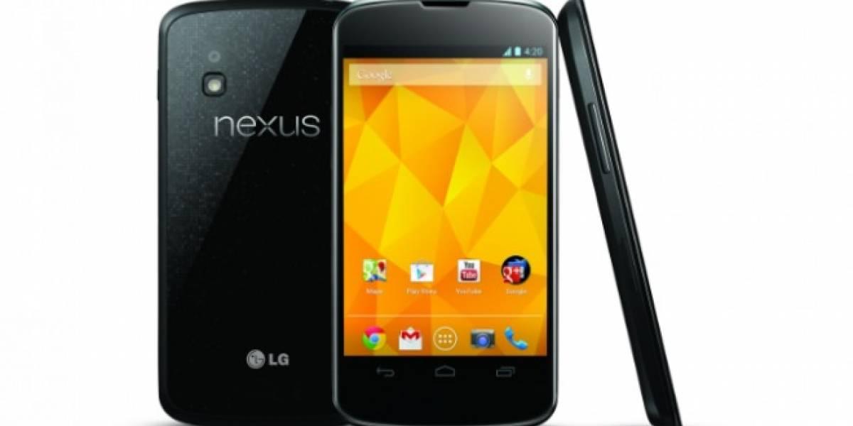 LG Nexus 4 ya es oficial: Quad-Core, 2 GB de RAM, desde el 13 de noviembre