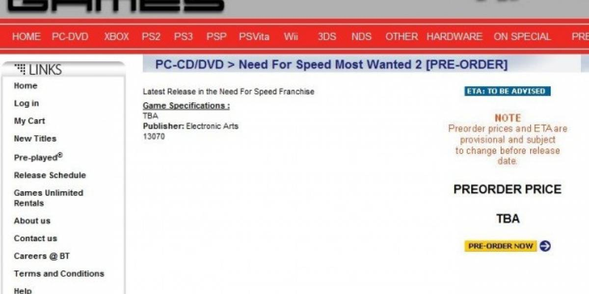 Tienda sudafricana filtra Dead Space 3 y Need for Speed: Most Wanted 2