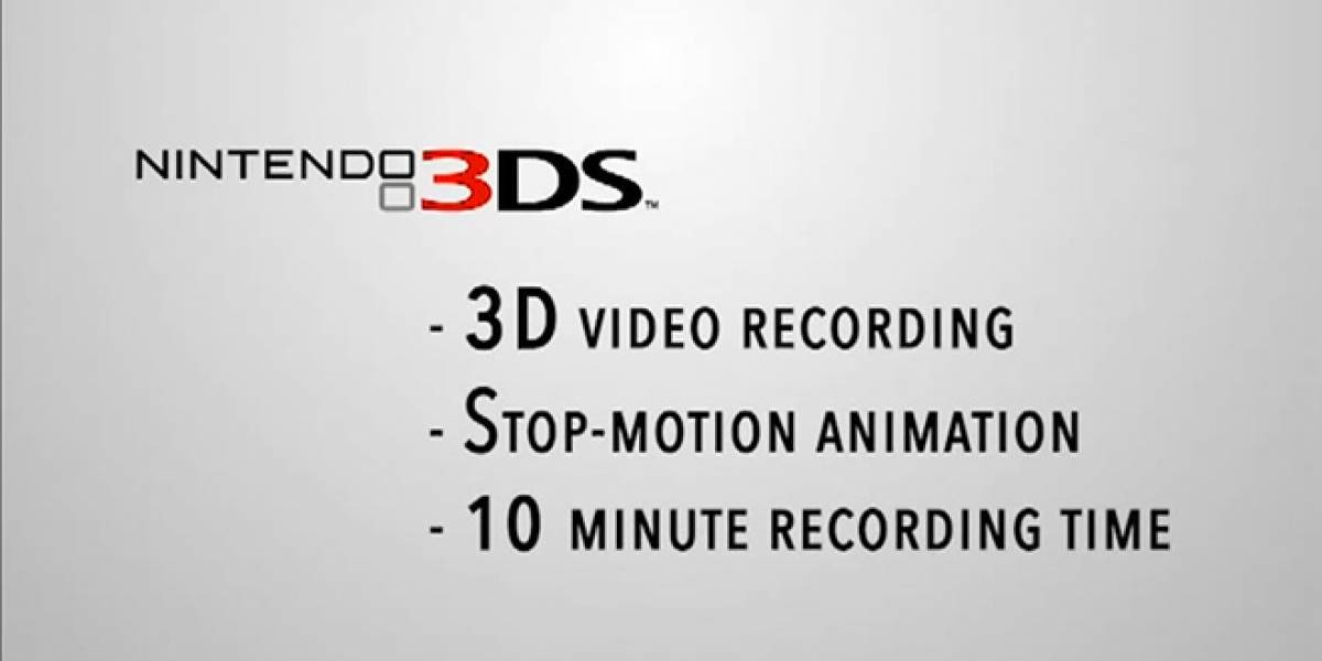 Nintendo 3DS podrá grabar video en 3D estereoscópico en Noviembre