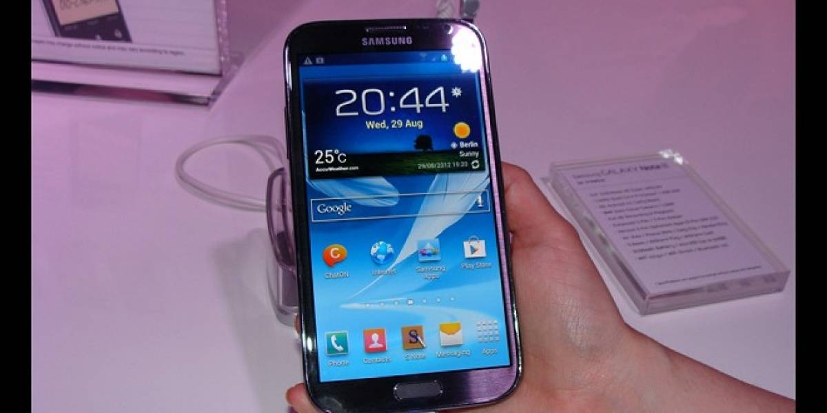 Comparativa: Galaxy Note II, Galaxy S III, Galaxy Note y Optimus Vu