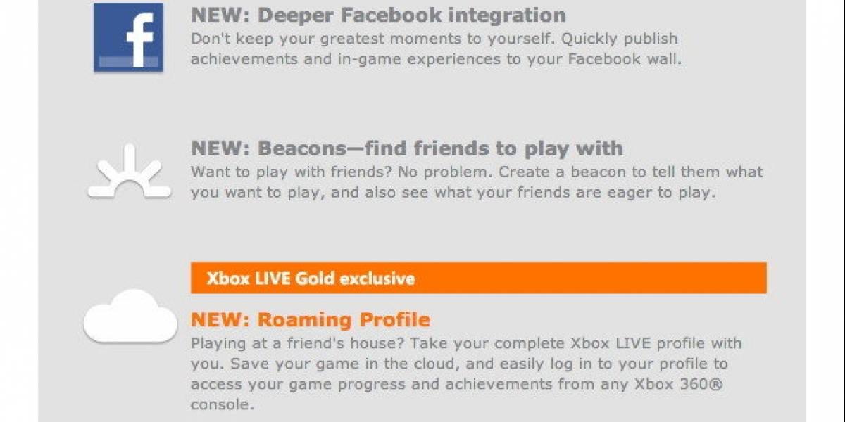 Futurología: Funciones nube de Xbox 360 sólo para usuarios Gold