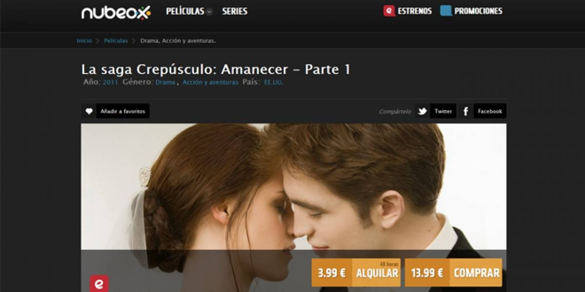 Nubeox: Nueva opción en España de alquiler y compra de películas y series