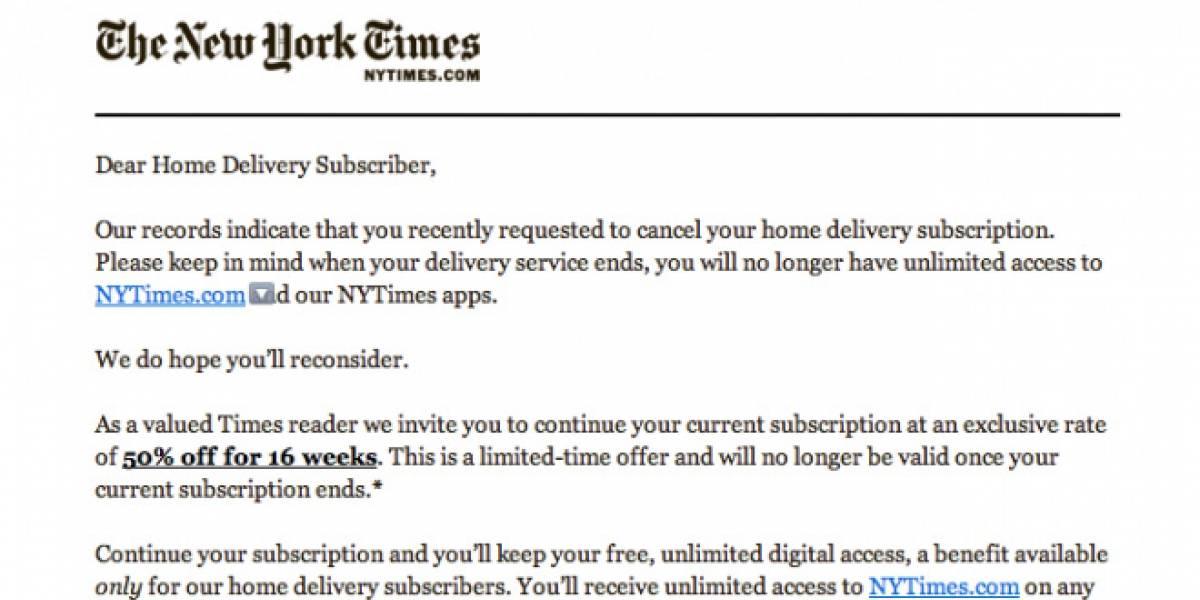 El New York Times enloquece y envía spam a millones de personas
