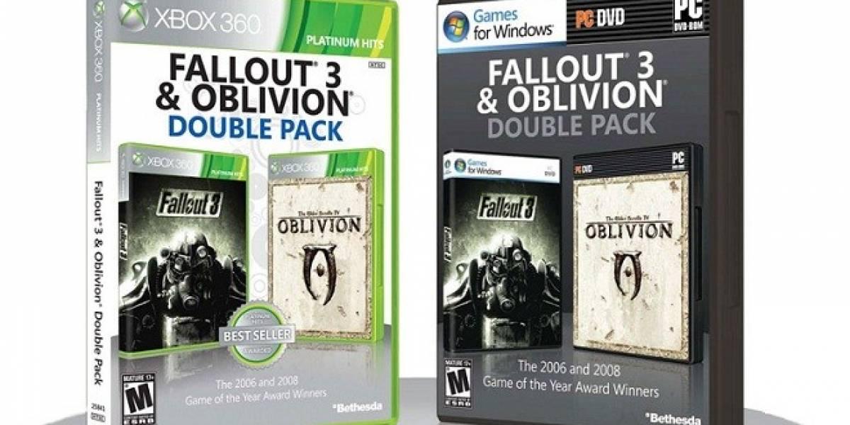 Oblivion y Fallout 3 llegarán en un solo paquete y a precio reducido