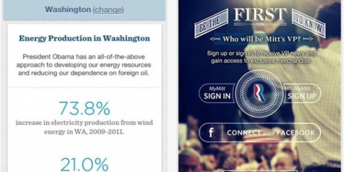 Obama y Romney lanzan aplicaciones móviles para sus campañas presidenciales