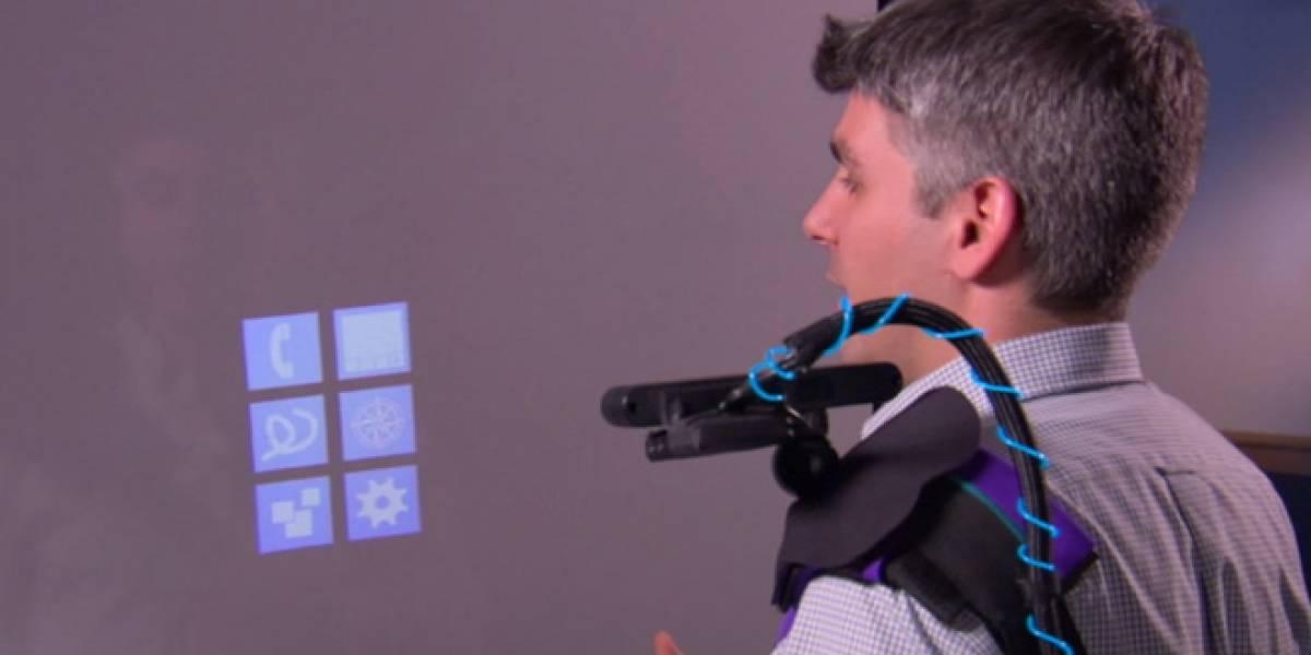 Microsoft muestra una tecnología para que una superficie se convierta en una pantalla táctil