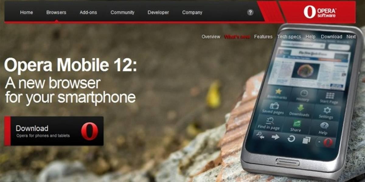 MWC12: Opera se renueva para Android, iOS y Symbian