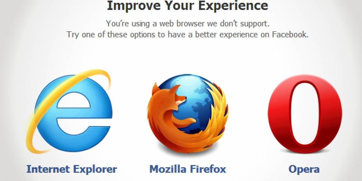 Facebook ahora recomienda usar Opera en lugar de Chrome