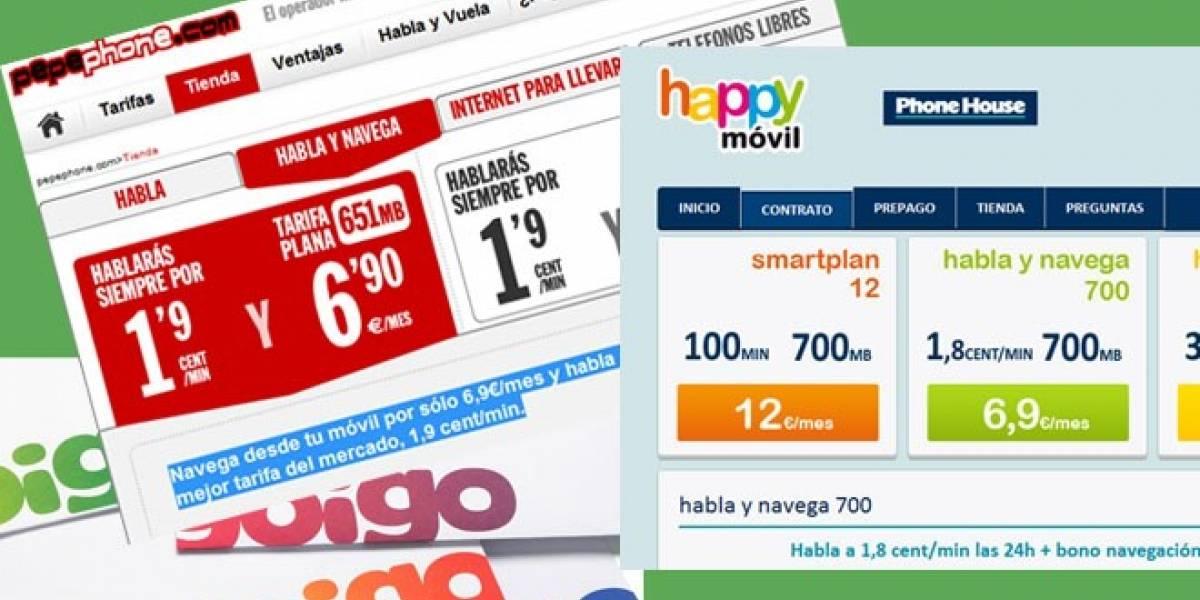 España: Happy Móvil y Pepephone arrecian la guerra del móvil con su reducción de tarifas