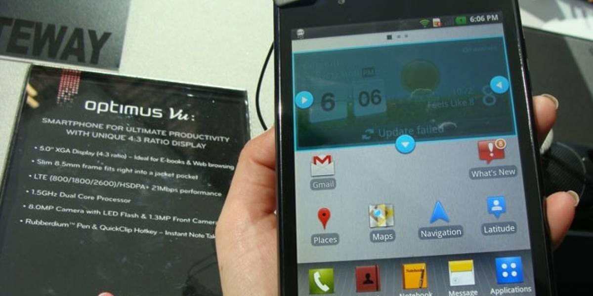 LG lanza finalmente el Optimus VU en Surcorea