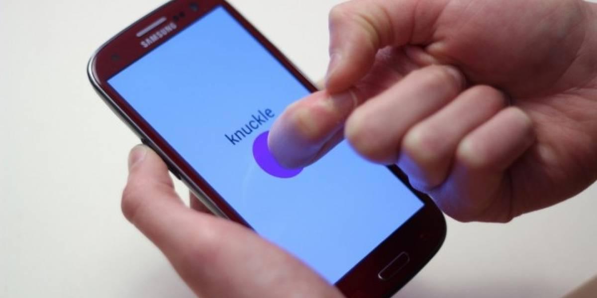 Crean tecnología para realizar gestos en pantallas táctiles con nudillos y uñas