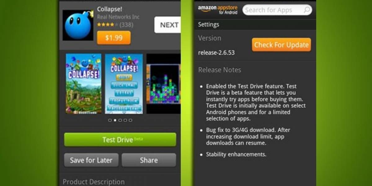 Tienda de aplicaciones de Amazon permitirá probar aplicaciones de pago para Android