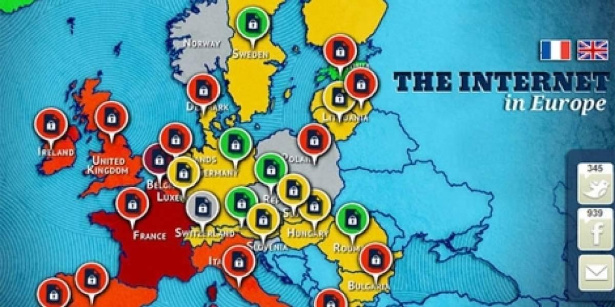 Así está la libertad de Internet en Europa