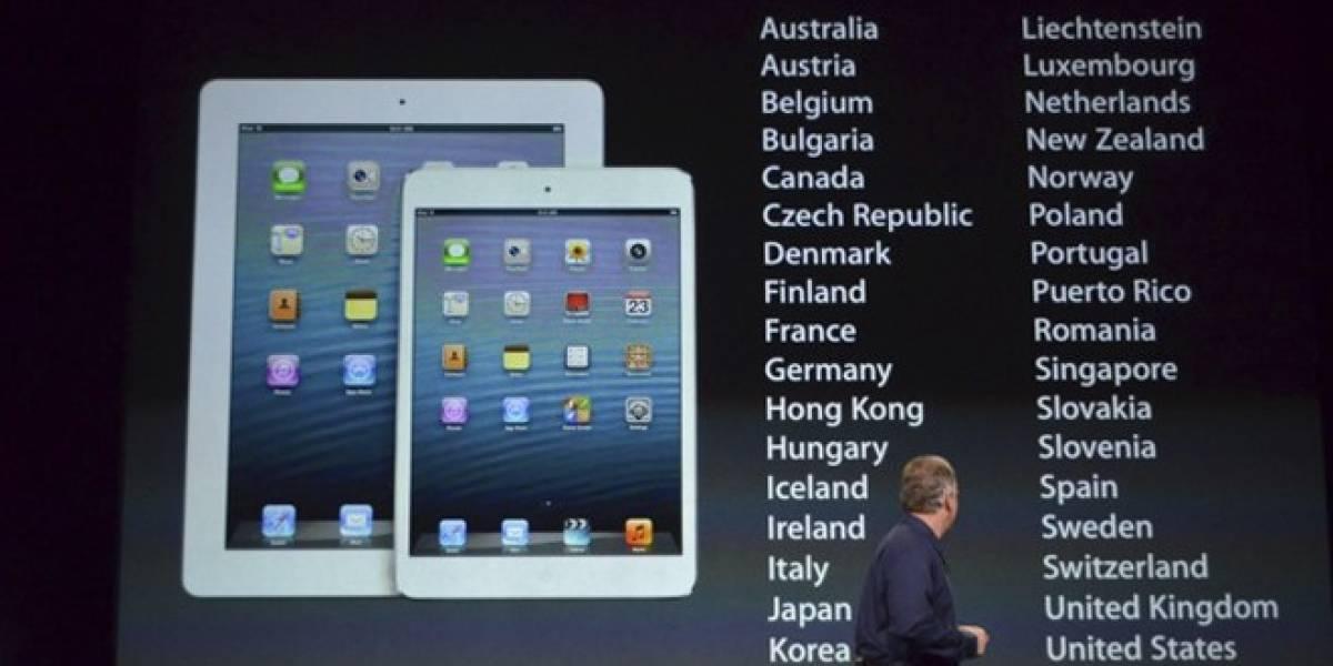 Disponibilidad y precios del iPad mini