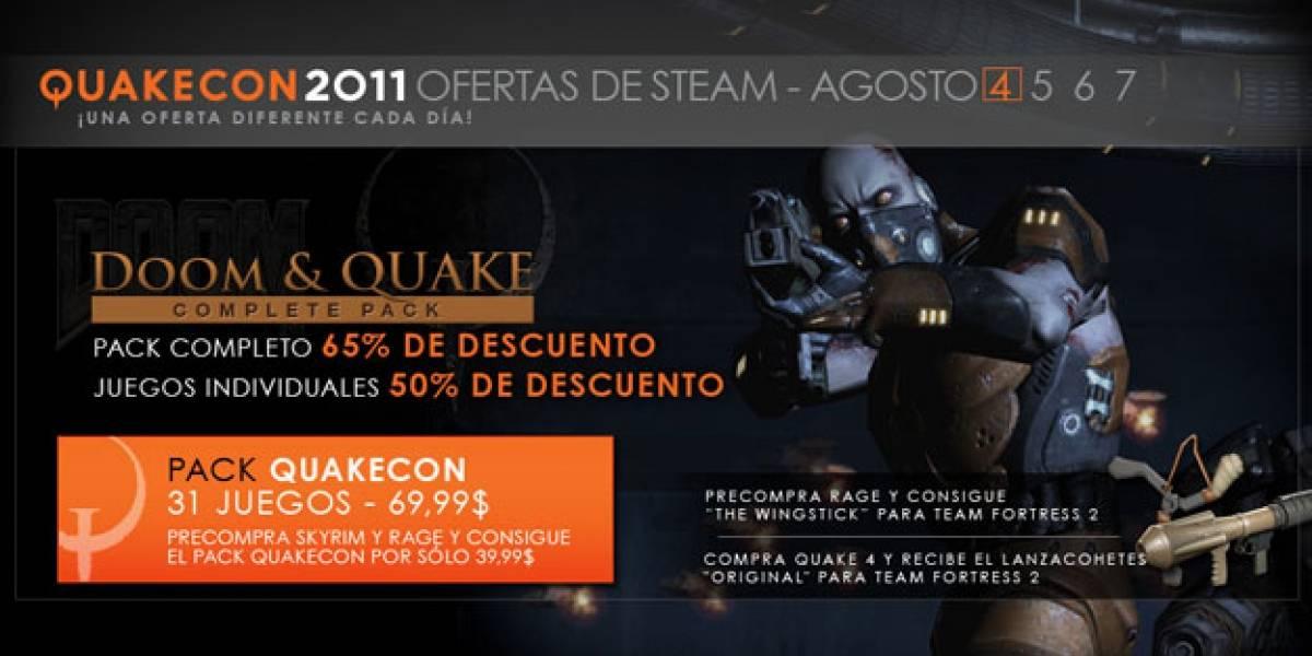 Steam con dos paquetes de juegos imperdibles, incluyen Quake IV [QuakeCon 11]