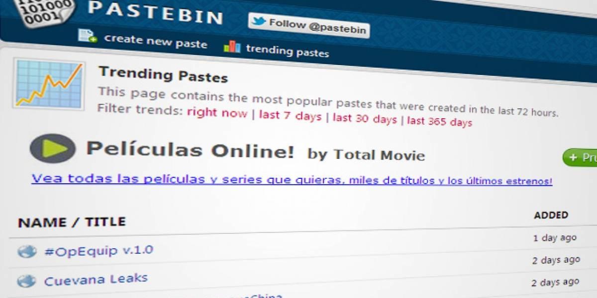 Pastebin tomará medidas para eliminar información sensible publicada por hacktivistas