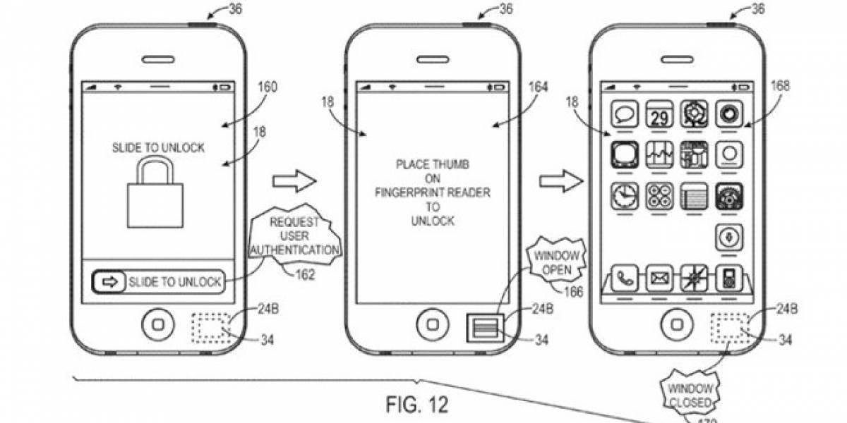 Apple solicita patente para un lector de huellas digitales que pueda opacarse