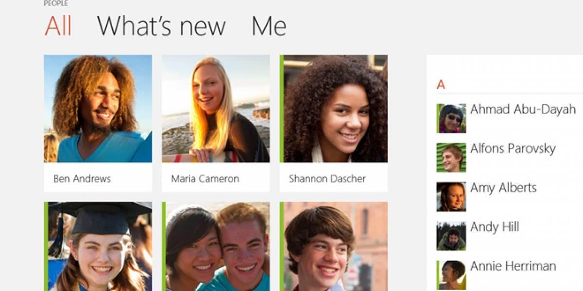 Windows 8 actualiza las aplicaciones de Calendario, Mail, Mensajería y otros