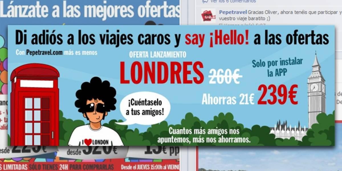 España: Ventas de viajes colectivos a través de Facebook, ¿efectivos para burlar la 'crisis'?