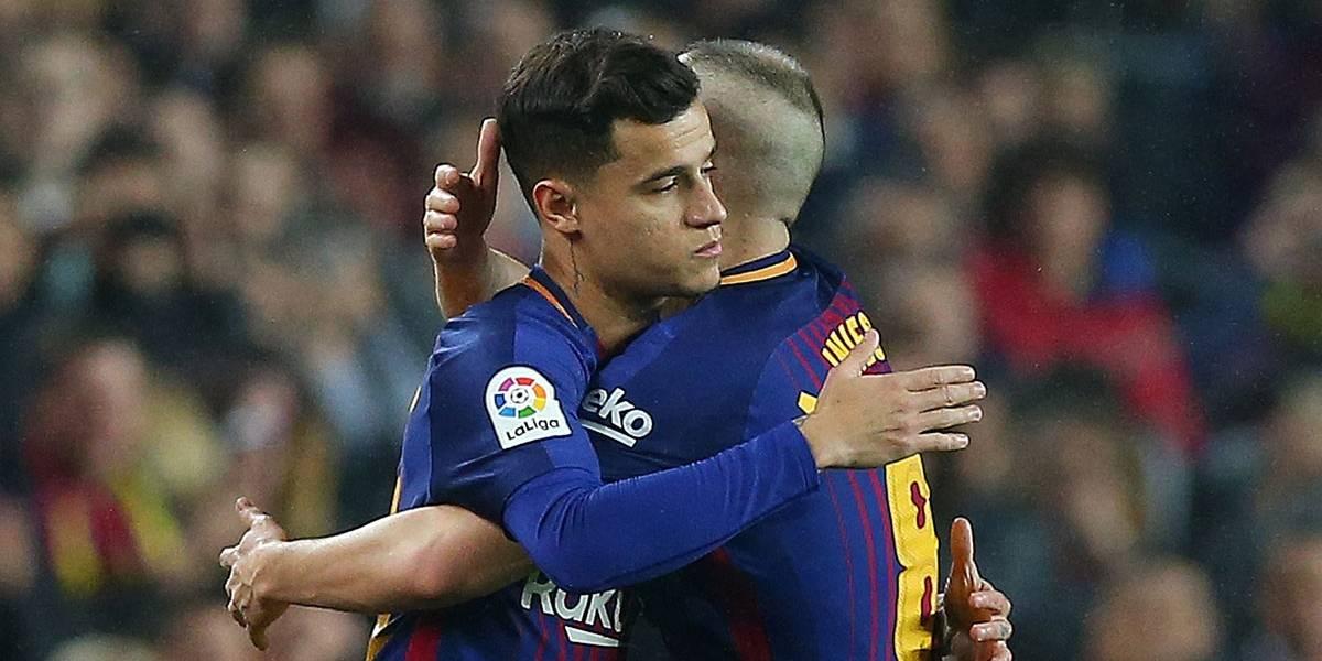 Após estreia, Coutinho ganha elogios do técnico do Barcelona