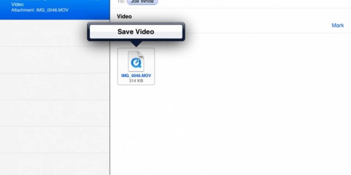 Cómo guardar vídeos con iOS 5
