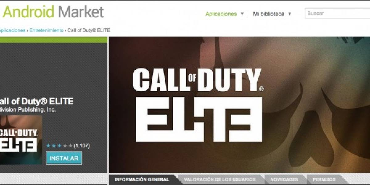 App de Call Of Duty Elite disponible para Android