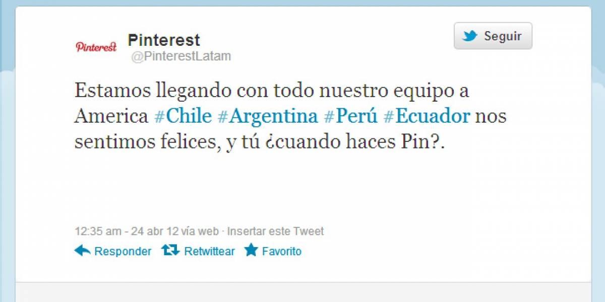 Pinterest llega a Latinoamérica