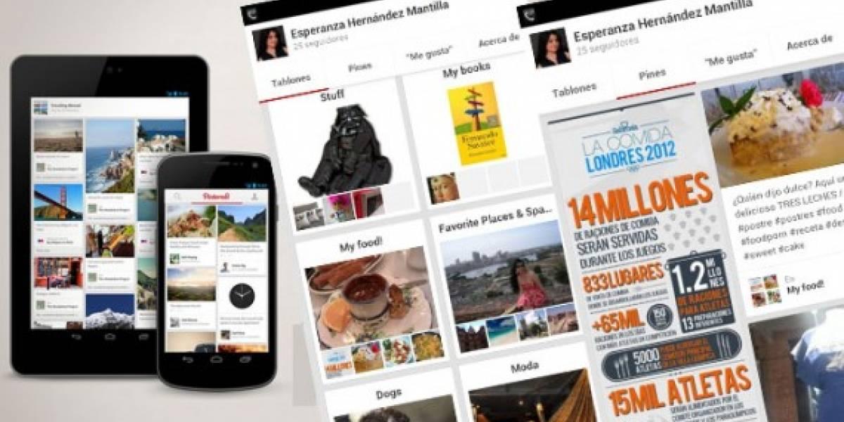 Pinterest estrena aplicaciones móviles para iPad y Android