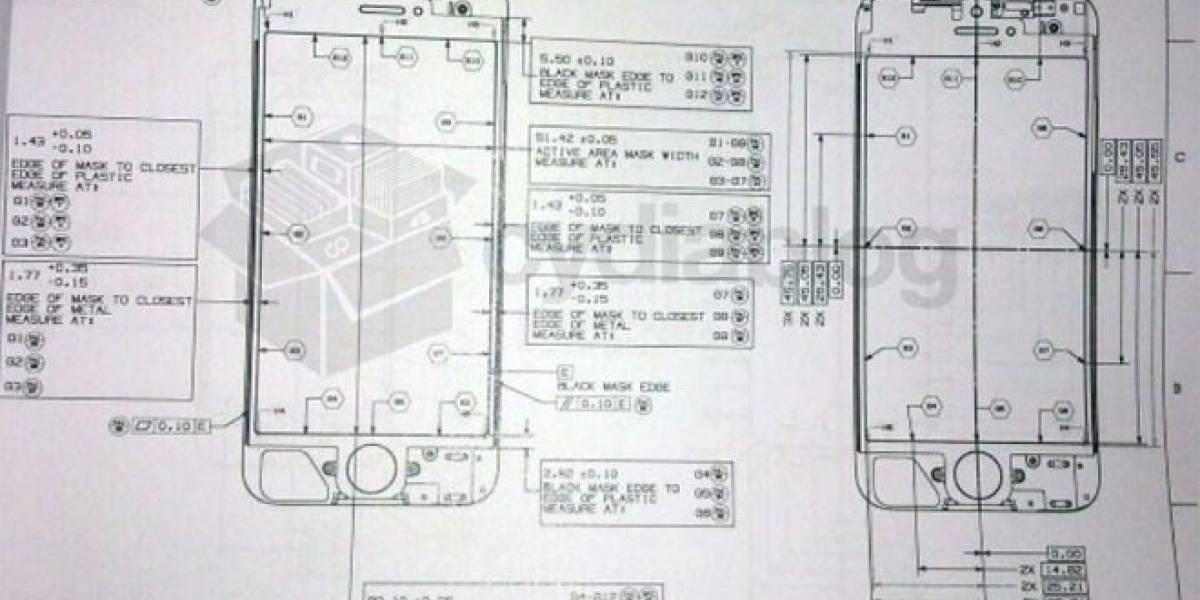 Estos serían los esquemas técnicos del iPhone 5: Confirman el tamaño de la pantalla