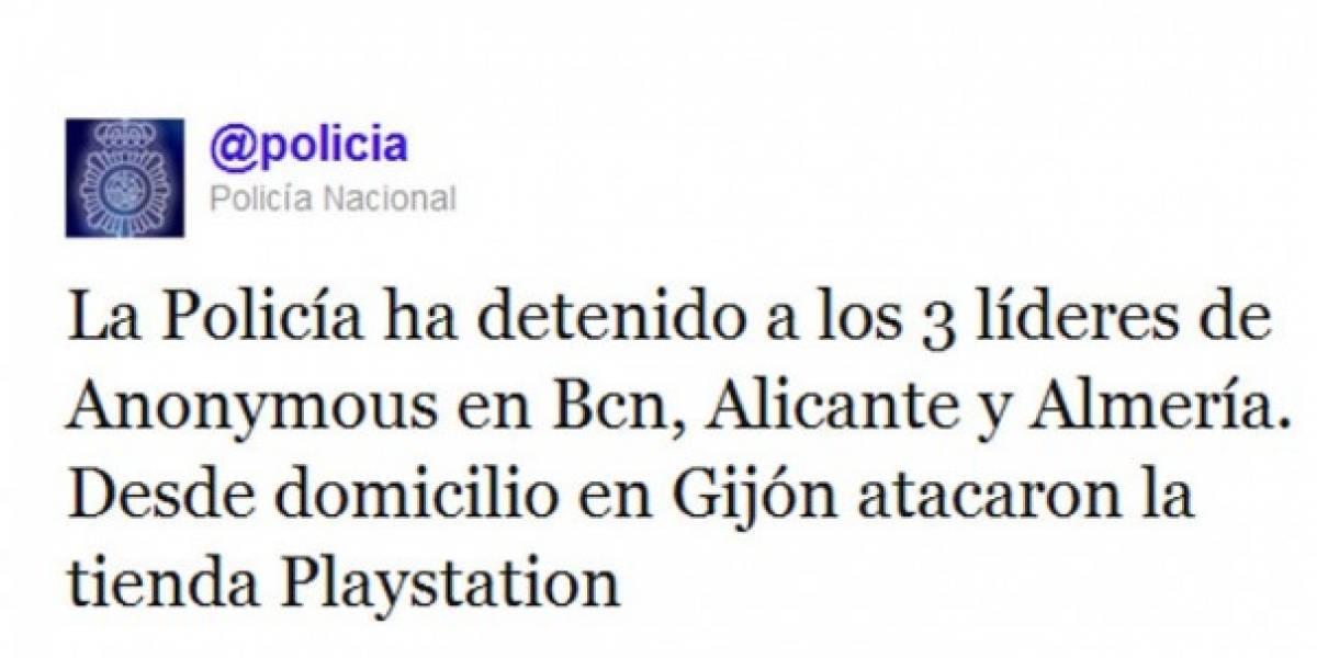La Policía de España arresta a tres involucrados con los ataques a PSN