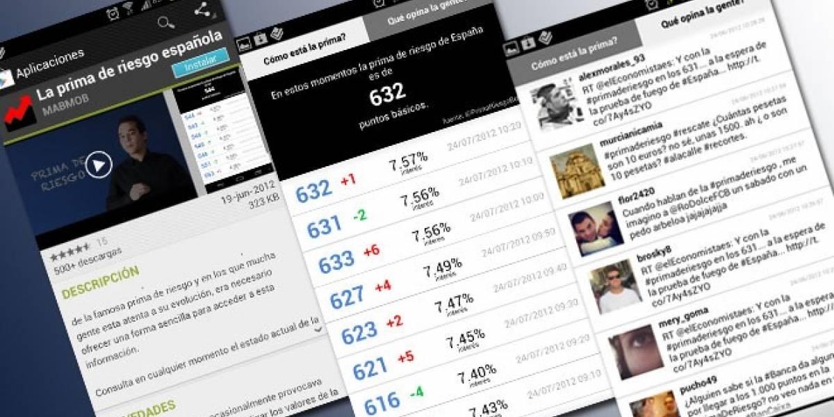 Consulta la prima de riesgo española desde tu Android