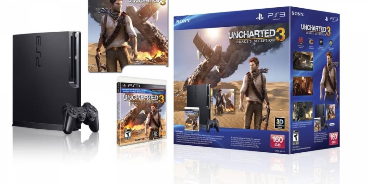 El paquete de PlayStation 3 con Uncharted 3 llegará a Latinoamérica