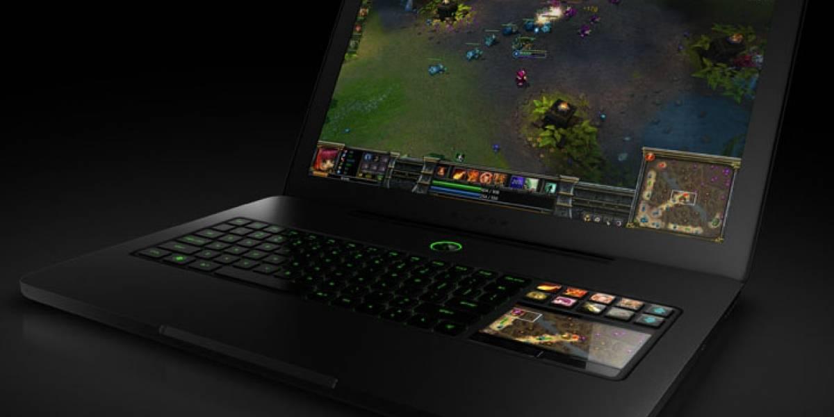 Razer Blade, laptop para jugar con una pantalla táctil en los controles