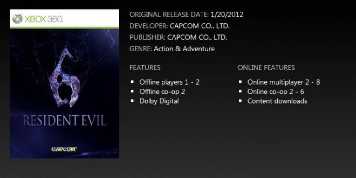 Bazar de Xbox Live adelanta más detalles de Resident Evil 6