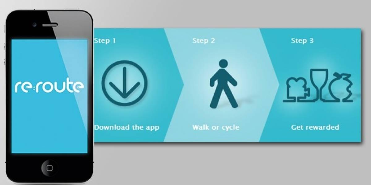 Con la aplicación re:route puedes cambiar tus pasos por entradas de cine
