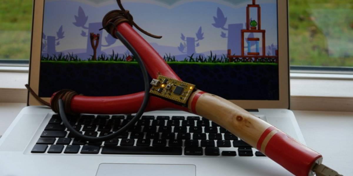 Avienta a los Angry Birds con una resortera de verdad
