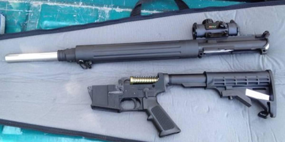 Construyen un rifle de asalto con una impresora 3D